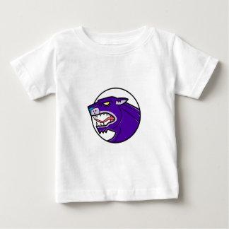 Black Panther Growling Mono Line Baby T-Shirt
