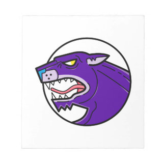 Black Panther Growling Mono Line Notepad
