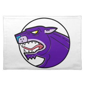 Black Panther Growling Mono Line Placemat