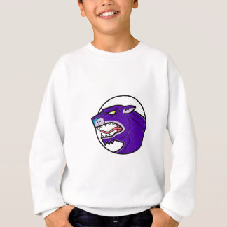 Black Panther Growling Mono Line Sweatshirt