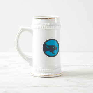Black Panther Head Growling Circle Retro Beer Stein