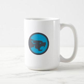 Black Panther Head Growling Circle Retro Coffee Mug
