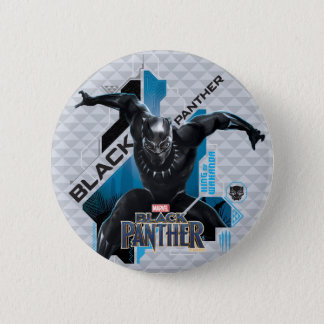 Black Panther | High-Tech Character Graphic 2 Inch Round Button