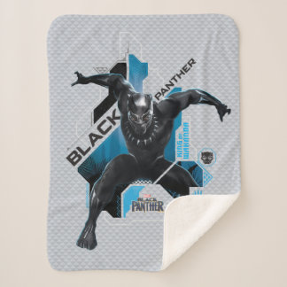 Black Panther | High-Tech Character Graphic Sherpa Blanket