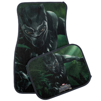 Black Panther   In The Jungle Car Mat
