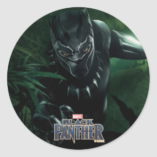 Black Panther | In The Jungle Classic Round Sticker
