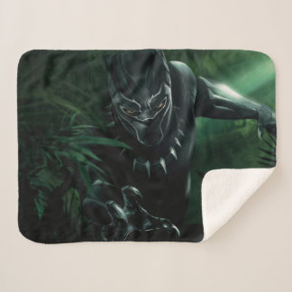 Black Panther | In The Jungle Sherpa Blanket