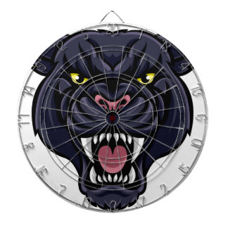 Black Panther Mascot Dartboard