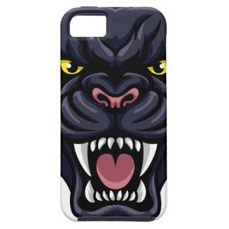 Black Panther Mascot iPhone 5 Case