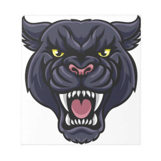 Black Panther Mascot Notepad
