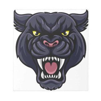 Black Panther Mascot Notepads