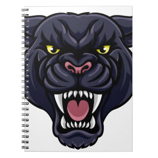 Black Panther Mascot Spiral Notebooks