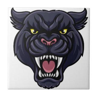 Black Panther Mascot Tile