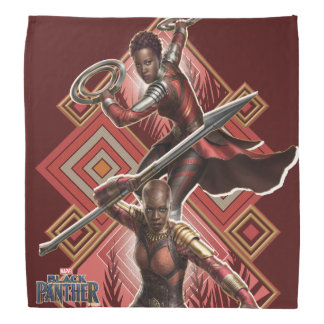 Black Panther   Nakia & Okoye Wakandan Graphic Bandana