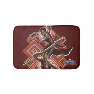 Black Panther | Nakia & Okoye Wakandan Graphic Bath Mat