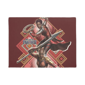 Black Panther | Nakia & Okoye Wakandan Graphic Doormat
