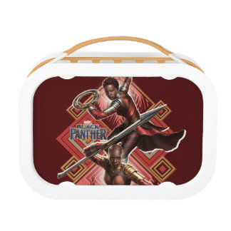 Black Panther   Nakia & Okoye Wakandan Graphic Lunch Box