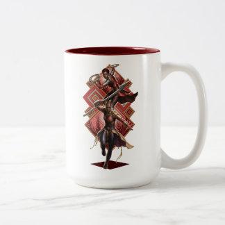 Black Panther | Nakia & Okoye Wakandan Graphic Two-Tone Coffee Mug