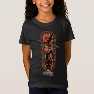 Black Panther   Okoye & Nakia Wakandan Panel T-Shirt