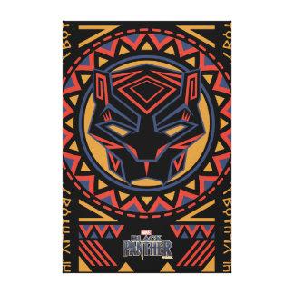 Black Panther | Panther Head Tribal Pattern Canvas Print
