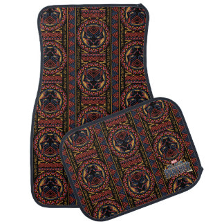 Black Panther   Panther Head Tribal Pattern Car Mat