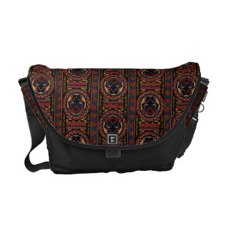 Black Panther | Panther Head Tribal Pattern Commuter Bag