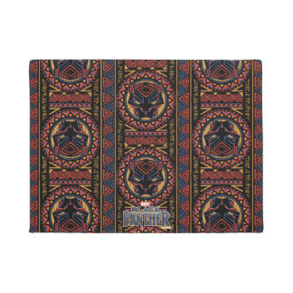 Black Panther | Panther Head Tribal Pattern Doormat