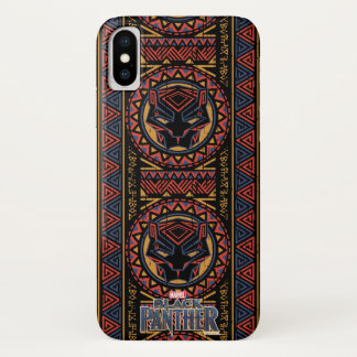 Black Panther | Panther Head Tribal Pattern iPhone X Case