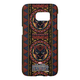 Black Panther   Panther Head Tribal Pattern Samsung Galaxy S7 Case
