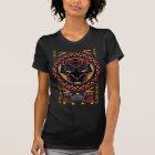 Black Panther   Panther Head Tribal Pattern T-Shirt