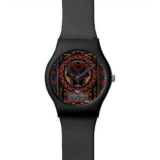 Black Panther | Panther Head Tribal Pattern Watch