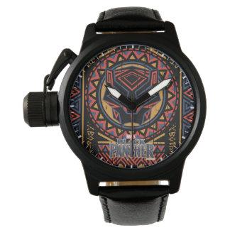 Black Panther   Panther Head Tribal Pattern Watch