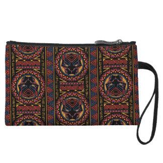 Black Panther | Panther Head Tribal Pattern Wristlet