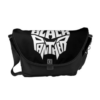 Black Panther | Panther Head Typography Graphic Commuter Bag