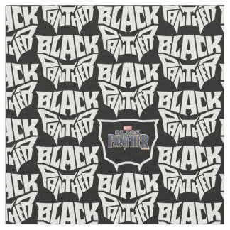 Black Panther | Panther Head Typography Graphic Fabric
