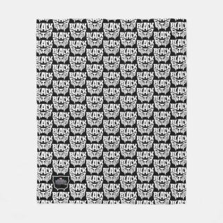 Black Panther | Panther Head Typography Graphic Fleece Blanket