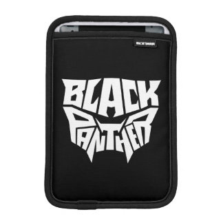 Black Panther | Panther Head Typography Graphic iPad Mini Sleeve