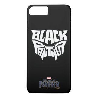 Black Panther | Panther Head Typography Graphic iPhone 8 Plus/7 Plus Case