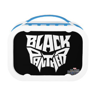 Black Panther   Panther Head Typography Graphic Lunch Box