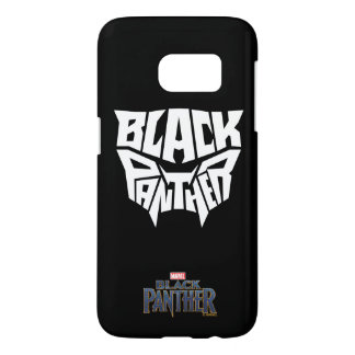 Black Panther   Panther Head Typography Graphic Samsung Galaxy S7 Case