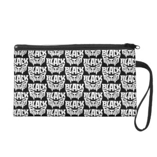 Black Panther | Panther Head Typography Graphic Wristlet