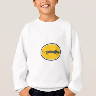 Black Panther Prowling Oval Retro Sweatshirt