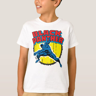 Black Panther Retro Character Art Graphic T-Shirt