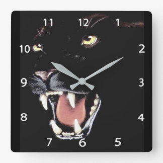Black Panther Square Wall Clock