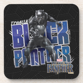 Black Panther | T'Challa - Black Panther Graphic Coaster