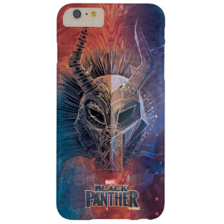 Black Panther | Tribal Mask Overlaid Art Barely There iPhone 6 Plus Case
