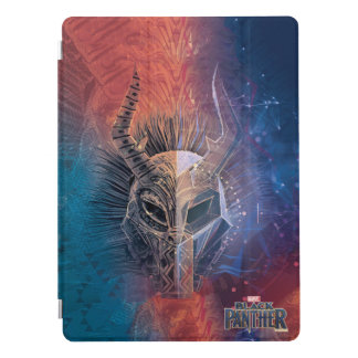 Black Panther   Tribal Mask Overlaid Art iPad Pro Cover