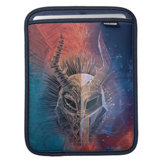 Black Panther | Tribal Mask Overlaid Art iPad Sleeve