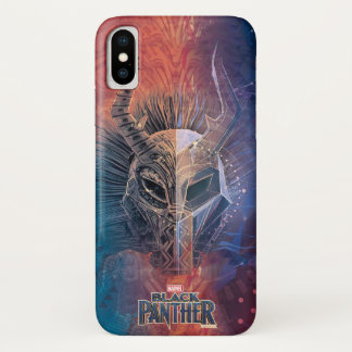 Black Panther | Tribal Mask Overlaid Art iPhone X Case