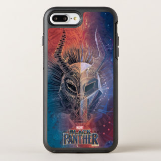 Black Panther | Tribal Mask Overlaid Art OtterBox Symmetry iPhone 8 Plus/7 Plus Case